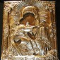 This icon was obtained from a Russian Icon dealer in Sitka, Alaska. It is a 19th century antique icon of the Vladimirskaya Mother of God.
