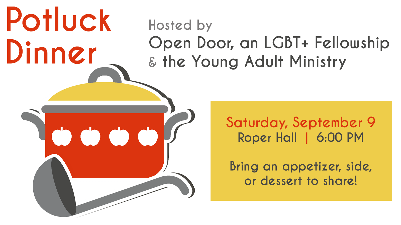 Open Door Fellowship and Young Adult Ministry Potluck  sc 1 st  Episcopal Church of the Transfiguration & Open Door Fellowship and Young Adult Ministry Potluck u2013 Episcopal ...