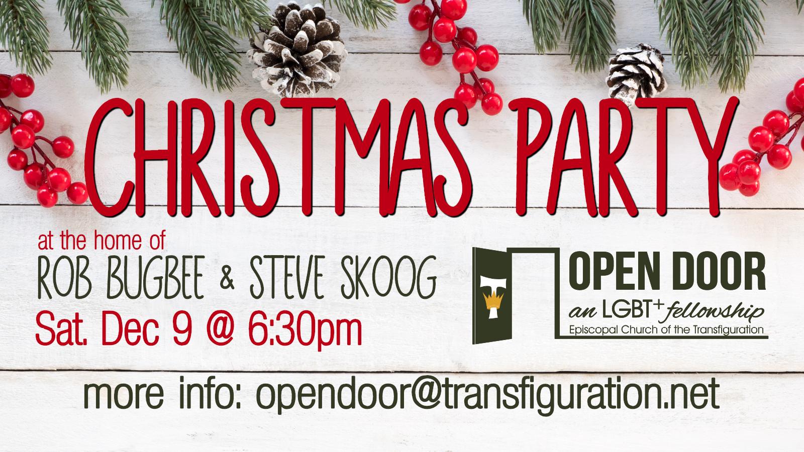Open Door Fellowship Christmas Party  sc 1 st  Episcopal Church of the Transfiguration & Open Door Fellowship Christmas Party \u2013 Episcopal Church of the ...